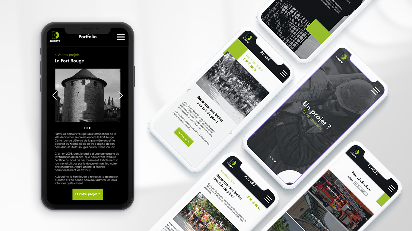 Dherte Mobile Website